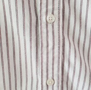 Vans Shirts - Vans White Stripe Houser SS Button Down Size M